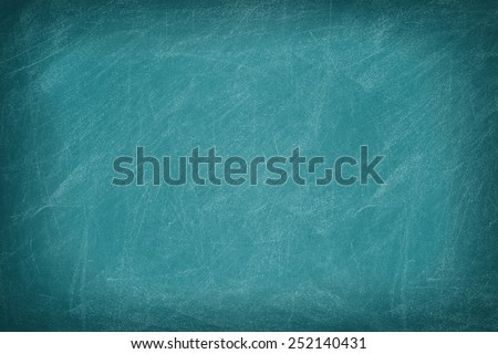 Green chalkboard / blackboard. Great texture background. - stock photo