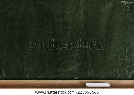 Green Chalkboard/ Green Chalkboard - stock photo
