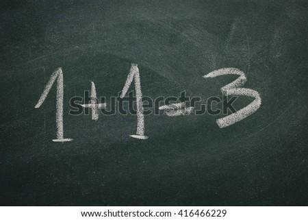Green Chalkboard math - stock photo