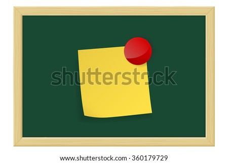 Green chalkboard.  Raster version. Illustration isolated on white. - stock photo
