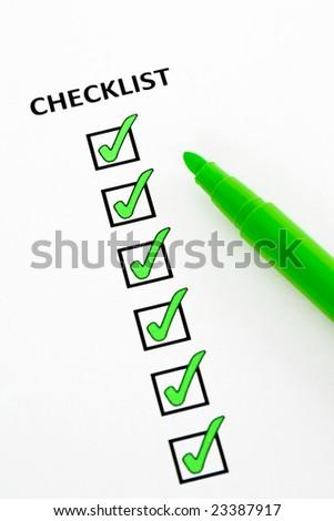 Green checklist - stock photo