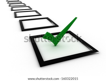 green checkmark - stock photo