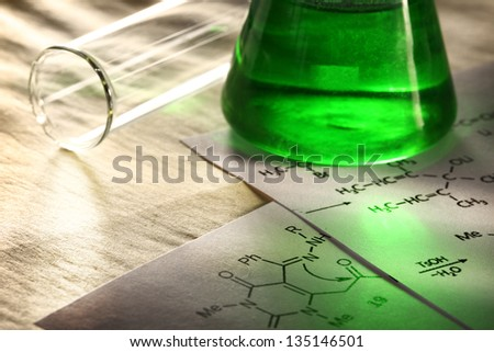 Green chemistry with reaction formula