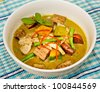 Green chicken curry a popular of Thai food - stock photo