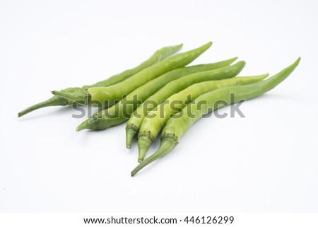 green chili pepper on background