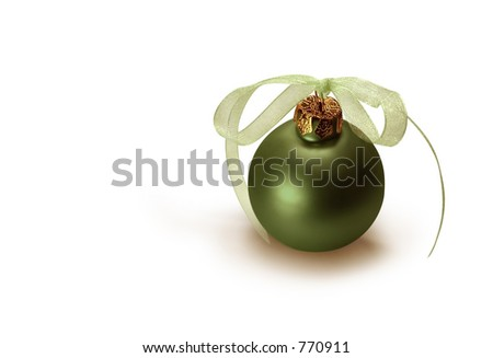Green Christmas bulb. - stock photo
