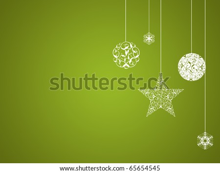 Green christmas new year background - stock photo