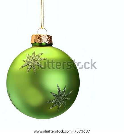 Green Christmas ornament - stock photo