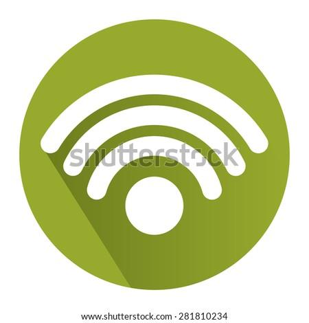 green circle wifi hotspot wifi service stock illustration 281810234