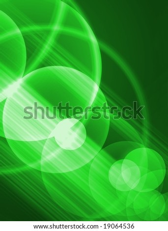 Green circles - stock photo
