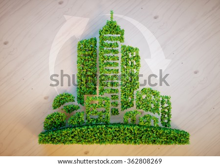 Green city concept - stock photo