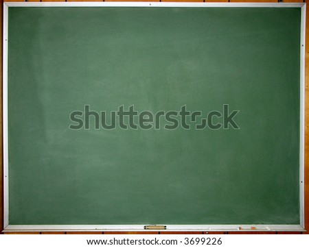Green clean chalkboard - stock photo