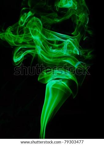 Green clouds of smoke - stock photo