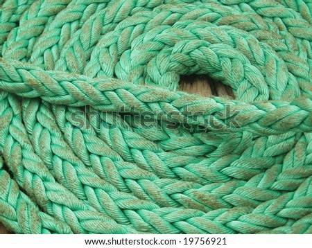 Green Coiled rope