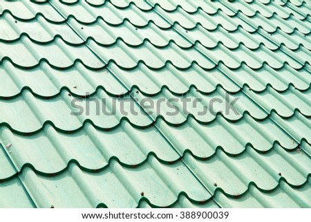 Green color roof tile.