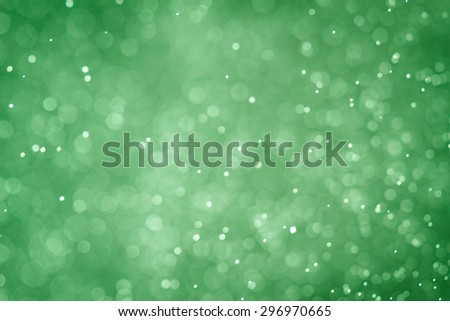 green color sparkle bokeh background and texture