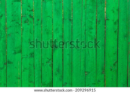 Green color Wooden vertical planks for background or texture - stock photo