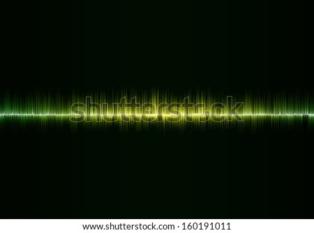green colors sound waves computer generated illustration
