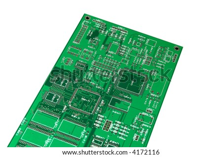green computer board isolated - stock photo