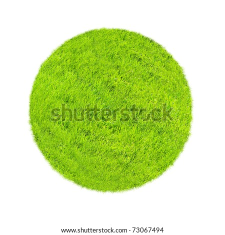 Green concept with world covered with grass