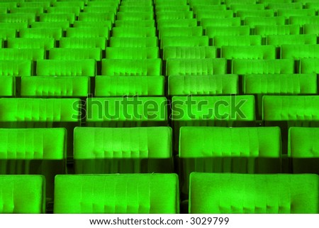 Green concert hall, opera or theatre seats. - stock photo