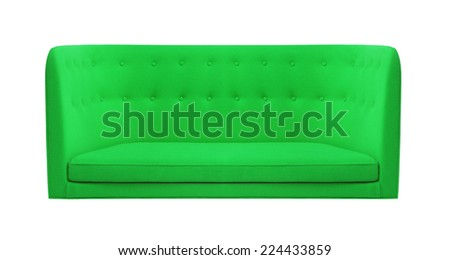 green couch - stock photo