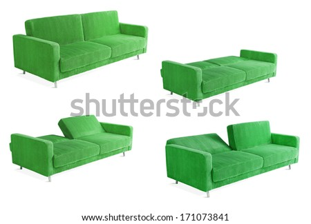 green couch composition - stock photo