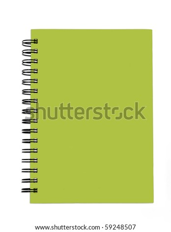 Green cover of Note book