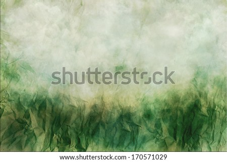 Green crumpled paper background
