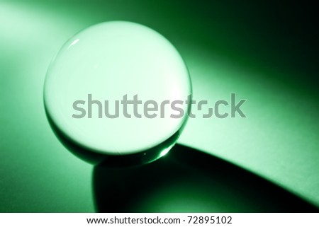 Green Crystal Ball for background - stock photo