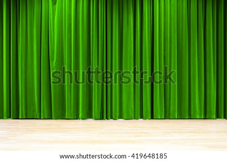 Green Curtain - stock photo