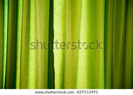 green curtain as a backdrop