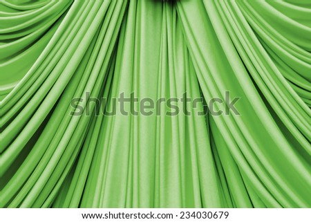 Green curtain texture for background - stock photo