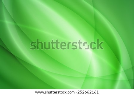 green curve abstract background - stock photo