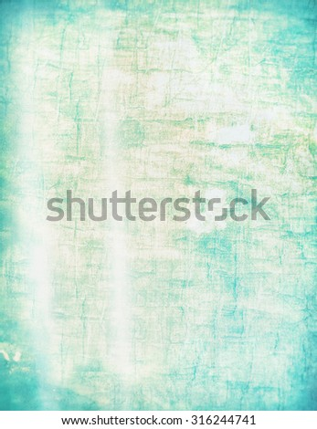 Green cyan aqua turquoise grunge abstract background texture with scratches for photo textures, scrapbooking, invitations or computer wallpaper - stock photo