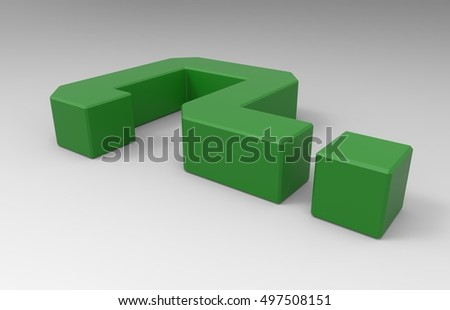 Green 3D Illustration Of A Question Mark Symbol On A Transparent Background