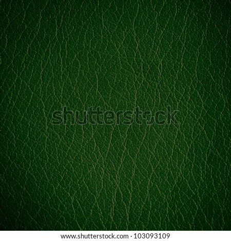 Green dark leather background or texture