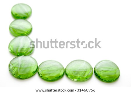 Green decoration stones