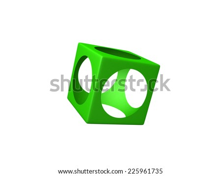 Green design element - this is 3d illustration - stock photo
