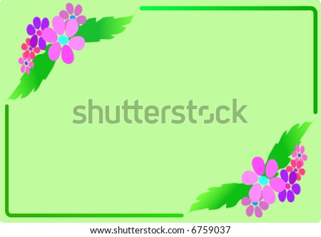 Green design with flowers, vector illustration. Vector version - in my portfolio - stock photo