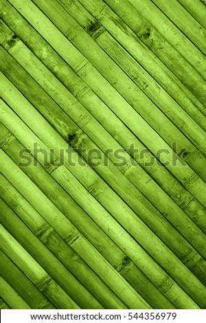 Green diagonal bamboo pattern for texture or background, greenery, color of the year 2017