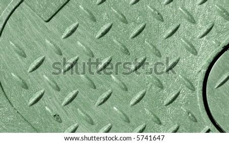 green diamond plate background for multipurpose use - stock photo