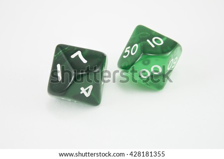 green dice cubes - stock photo