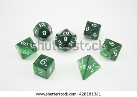 green dice set - stock photo