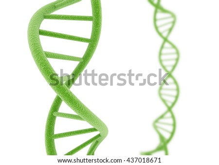 Green DNA. 3D illustration.