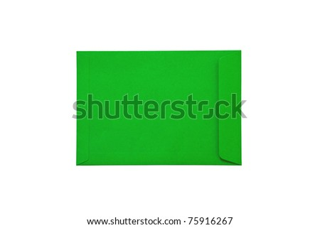 Green document on white background - stock photo