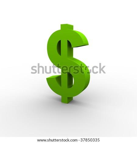 Green Dollar - stock photo