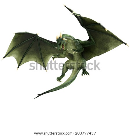 green dragon air stopped - stock photo