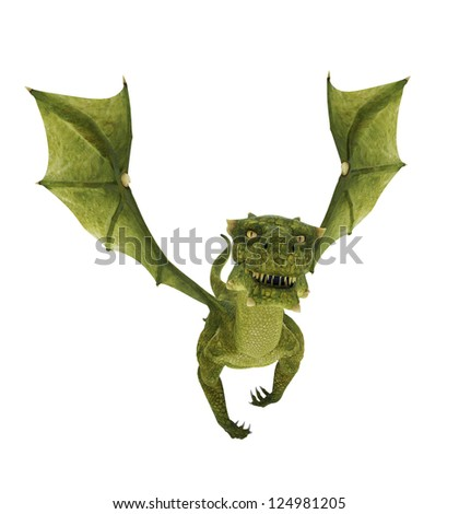 green dragon easy day - stock photo