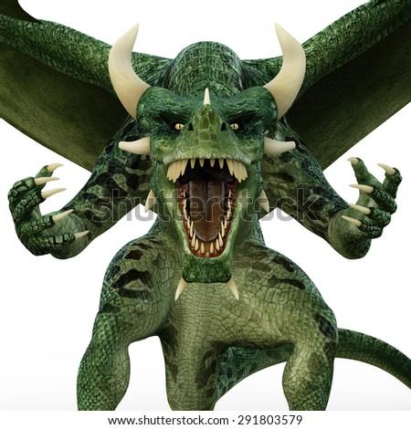 green dragon surprise - stock photo